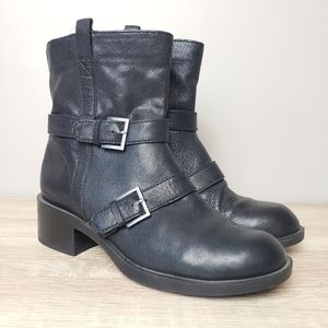 Cole Haan Nike Air Leather Moto Boots